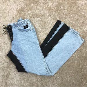 HARLEY DAVIDSON Embroidered BLUE & BLACK Jeans  8